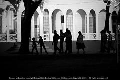 Diwali visitors (Ertugrul Kilic) Tags: street leica november blackandwhite bw southamerica dutch silhouette silhouettes sur diwali walkers surinam independencesquare netherlandsantilles suriname paramaribo leicam 2013 kilic ertugrul onafhankelijkheidsplein zf2 makroplanart2100 ertugrulkilic type240 vision:text=0618 vision:outdoor=0873 2ndofnovember2013 makroplanarf2100mmzf2