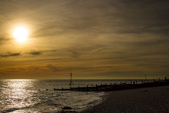Selsey Beach (Simon Giddings) Tags: ocean uk winter sunset sea england sky sun sunlight hot beach water sunshine evening solar warm afternoon bright westsussex unitedkingdom selsey chichester