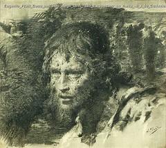 Eugenio Prati Gesu nell'orto degli Ulivi 1889 carboncino su carta 46 x 50 Collezione privata