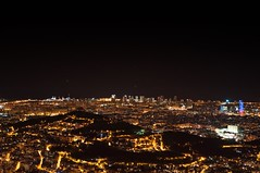 I love this place... (l@u_) Tags: barcelona city espaa night relax lights luces noche spain ciudad viewpoint mirador