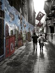 New Turkey rise (tSos Greq) Tags: turkey graffiti istanbul turkishflag turquia beyoglu istiklal estambul constantinople modernturkey newturkey