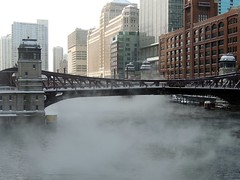 Soup's On (Chicago Man) Tags: city winter urban usa snow chicago cold ice river illinois downtown loop chitown scene steam chi chicagoriver chicagoist chitownphotoscom johnwiwanski