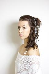 Crystal (lenehuse) Tags: portrait woman white selfportrait hair weird intense eyes crystal