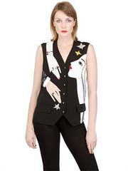 LUISAVIAROMA ALEXANDER TEREKHOV  EMBROIDERED SILK BLEND VEST (luisaviaroma.fashion) Tags: clothing women vests luisaviaroma alexanderterekhov fallwinter2013