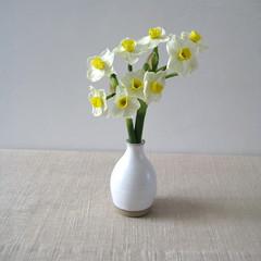 Bud Vase (Jude Allman) Tags: flowers white ceramic ceramics crafts craft pot pots jude clay vase pottery vases esty allman