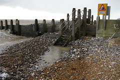 High tide, wind, and stormy skies (debs-eye) Tags: waves windy stormy groyne hightide groynes