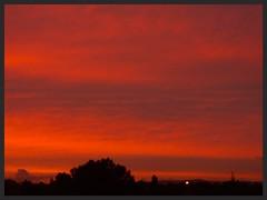 Sunset Auckland (Zelda Wynn) Tags: sunset red summer weather clouds waitakereranges zeldawynnphotography