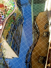 Abstract reflection on the terrace of Casa Batll by A. Gaudi - Barcelona (Sokleine) Tags: barcelona abstract reflection faence architecture spain ceramics terrasse modernism catalonia unesco espana artnouveau gaudi espagne casabatllo reflets unescoworldheritage barcelone catalogne dcorarchitectural