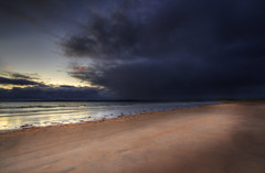 Not Exactly A Day For The Beach (SJ Wray Photography) Tags: ocean county ireland sunset sea vacation sky sun seascape storm colour art beach nature water strange beautiful beauty set clouds canon dark lens landscape outdoors photography eos coast sand day waves moody colours angle natural shane empty tide wide relaxing dramatic peaceful tourist calm coastal sj mystical 1022mm donegal wray 650d murvagh vision:sunset=067 vision:outdoor=0911 vision:clouds=0923 vision:car=0577 vision:sky=0943