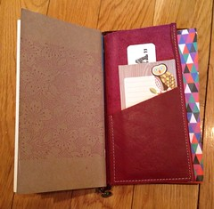 Custom made leather insert from the Etsy shop https://www.etsy.com/shop/ToBoldlyFold (eprender) Tags: notebook travelers midori travelersnotebook uploaded:by=flickrmobile flickriosapp:filter=nofilter