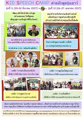 Kid speech camp รุ่น 11,12
