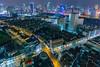 Shanghai Skyline (Lord Shen) Tags: china city urban horizontal landscape photography asia nightscape shanghai outdoor aerialview huangpu luwan