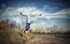 Give Me Wings (Tirret) Tags: sky guy sport training flying dangerous jump jumping circus air talent freerunning acrobat stunt stunts acrobatic guyflying parcour trics circedusoleil parkoer guyjumps