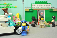 """If anything goes wrong, just dial 911. Unless it's an emergency."" -  © Clancy Wiggum (Phil Korn) Tags: money me car lego like police bank simpsons abraham national quotes enjoy join donut springfield simpson clancy wiggum minifigures pson"