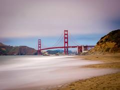 Baker Beach (gcanicosa) Tags: sf sanfrancisco longexposure bridge beach water golden gate san francisco filter nd ggb