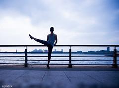 DSC_5070 (epfalck) Tags: nyc blue dance rivers runner chelseapier maledancer nikond610