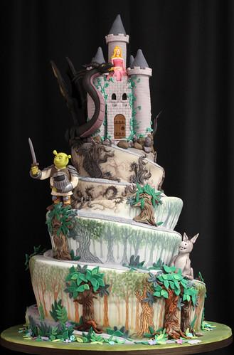 Shrek Castle Spiral Wedding Cake