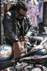 Biker. Kensington Market (sigma.) Tags: street toronto leather fashion market candid style wear harley mens moto biker kensington davidson