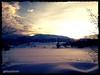 neve al tramonto nella Valle Giumentina