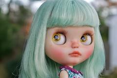 Agnes WIP (Chassy Cat) Tags: chassycat custom customized msr misssallyrice miss sally rice takara translucent neo blythe fantasy hair
