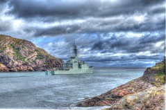 HMCS Athabaskan Headed to Sea (Ross A Craig) Tags: stjohnsnewfoundland canadian navy united states hmcs fredericton athabaskan signal hill