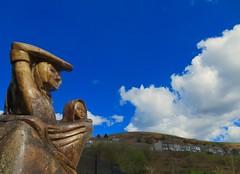 Waiting for News (Vertigo Rod) Tags: senghenydd caerphilly mining coal disaster tree sculpture memorial garden 1913