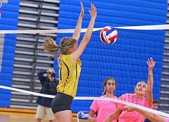 IMG_10417 (SJH Foto) Tags: girls volleyball high school lampeterstrasburg lampeter strasburg solanco team tween teen east teenager varsity net battle spike block action shot jump midair