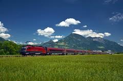 RJ 167 / 567 @ Schlins-Beschling (Wesley van Drongelen) Tags: öbb obb oebb österreichische oesterreichische osterreichische bundesbahnen rj railjet série serie br baureihe class type rh 1116 taurus schlins beschling trein train zug