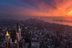 Nueva York - 21092016 - 769 (rbolgn) Tags: new york sunset city atardecer ciudad paisaje urbano topoftherock