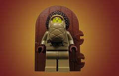 Babyface McGoitre (Karf Oohlu) Tags: lego moc minifig baby papoose golliwoghair door goitre