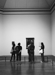 People in Museums: National Gallery (oh it's amanda) Tags: nationalgallery museum artmuseum fujiga645i ga645i kodakportra400bw expiredfilm londonengland england c41blackandwhite london bw c41bw blackwhite blackandwhite