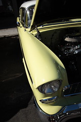 spring green fender (1600 Squirrels) Tags: 1600squirrels photo 5dii lenstagged canon24105f4 classic car automobile show downtownalamedaclassiccarshow parkstreet alameda alamedacounty eastbay sfbayarea nocal california usa 1955 chevrolet belair coupe gm