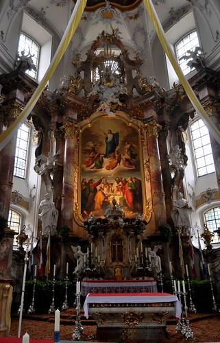 Staffelstein (Alemania). Basilica Vierzehnheiligen. Altar
