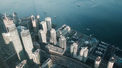 Toronto Aerial View (darkbxcreative) Tags: toronto downtown aerial harbourfront boats highrise dock water canada gta ontario 56 1125 sony 28100mm f1849 dscrx100m2 zeiss cityscape