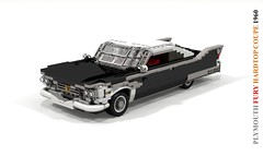 Plymouth Fury 1960 Hardtop Coupe (lego911) Tags: plymouth fury 1960 hardtop coupe 1960s classic chrysler corporation fins chrome v8 auto car moc model miniland lego lego911 ldd render cad povray lugnuts challenge 108 9th birthday lugnutsturnsnine angermanagement anger management turns nine 91 usa america foitsop