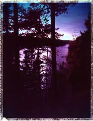 Autumnal sunset (Maija Karisma) Tags: polaroid instant pola littlebitbetterscan polaroid180 nature 689 expiredfilm peelapart