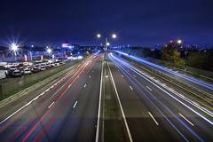 47/52 (2016): M1 Vanishing Point (Sean Hartwell Photography) Tags: m1 junction2 motorway movement motion light trail lights traffic london road night week472016 52weeksthe2016edition weekstartingfridaynovember182016