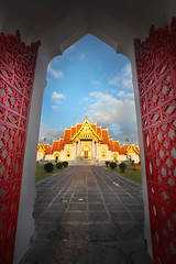 Wat Benchamabopitr (Patrick Foto ;)) Tags: ancient architecture art asia asian bangkok ben benchamabophit benjamabopit benjamaborphit blue buddha buddhism buddhist building cultural culture daylight destination door exterior famous frame gold grand historic historical history landmark majestic marble old oriental palace pray religion royal siam sightseeing sky spirituality temple thai thailand tourism tourist travel vacation wat worship krungthepmahanakhon th