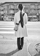 If you're going to San Francisco... (O Caritas) Tags: 2016112912202801 woman marketstreet sanfrancisco california bw snapseed copyright2016bypatricktpowerallrightsreserved samsunggalaxysiii november 2016 crosswalk 29november2016 mobile