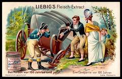 Liebig Tradecard S801 - A Country Trip in 1804 (cigcardpix) Tags: tradecards advertising ephemera vintage liebig chromo