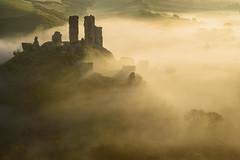 Sunlit Mist (Stu Meech) Tags: corfe castle mist sunrise landscape dorset nikon d750 70200 leefilters