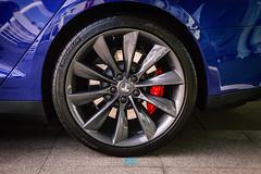 Tesla boy (5 van 6) (Nerbizmeaux) Tags: wheels tesla motors model s models luxury sedan premium saloon brake calipers