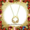 Gold Wreath Necklace (SilverMoonBay) Tags: jewelrysales jewelryforless jewelrydeals discountjewelry trendy trendyjewelry affordablejewelry giftideas jewelrygifts holidaydeals holidaysales stockingstuffers giftsforchristmas sparkle shimmer shine christmasgifts christmasjewelry christmaswreath