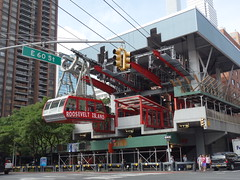 201609105 New York City Upper East Side and Roosevelt Island Tramway (taigatrommelchen) Tags: 20160938 usa ny newyork newyorkcity nyc manhattan uppereastside icon urban city building ropeway station sign street
