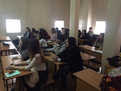 "Al-Farabi Kazakh National University - Lecture delivering <a style=""margin-left:10px; font-size:0.8em;"" href=""https://www.flickr.com/photos/89847229@N08/31002108130/"" target=""_blank"">@flickr</a>"