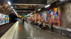 Stockholm, Sweden: Fridhemsplan Station, Lines T-10 & T-11 (Blue) (nabobswims) Tags: fridhemsplan hdr highdynamicrange lightroom linet10 linet11 metro nabob nabobswims photomatix se sl sonya6000 station stockholm subway sweden tbana tunnelbana ubahn stockholmiän