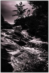 Dark falls (toddrappitt) Tags: breathtakinglandscapes vegetarian6 scenery scenic september dark waterfalls water muskoka 3milelake ontario canada t4i rebel canon