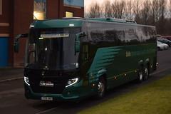 YT15AVO  Skills, Nottingham (highlandreiver) Tags: yt15avo yt15 avo skills nottingham scania touring bus coach coaches mansfield town carlisle united utd brunton park cumbria