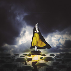 storm watcher (sparkbearer) Tags: fineartphotography chelseaknight 365project yellow storm stormy sky clouds surreal