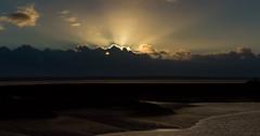 Autumn Sunrise (James P. Mann) Tags: rocks sunrise hopewell cape new brunswick sun rays clouds autumn